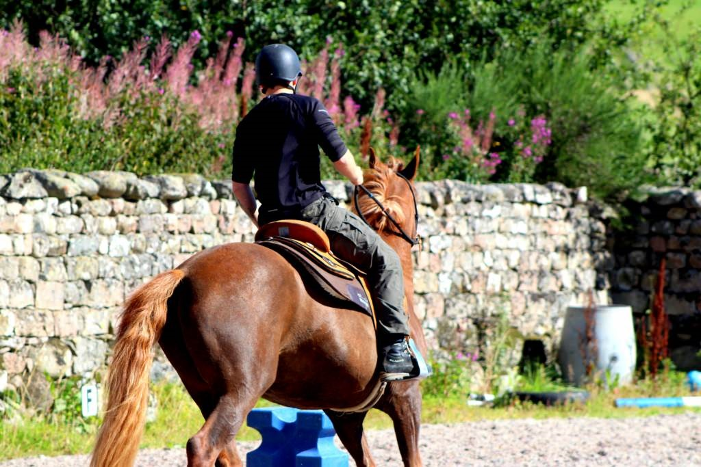 HorseBack UK participant riding one of our horses