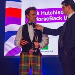 Jock Hutchison of HorseBack UK accepts the award on behalf ot the HorseBack UK team at the Soldiering On Awards